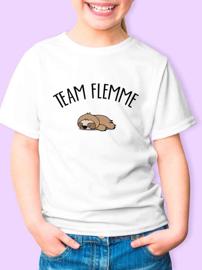 T-shirt Team flemme