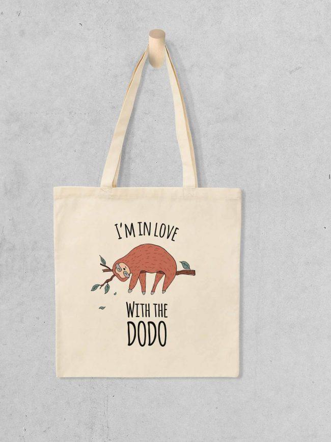Tote bag I'm in love dodo