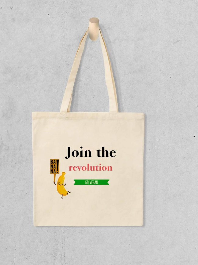 Tote bag Join the revolution