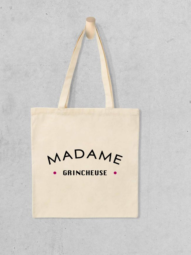 Tote bag Mme grincheuse