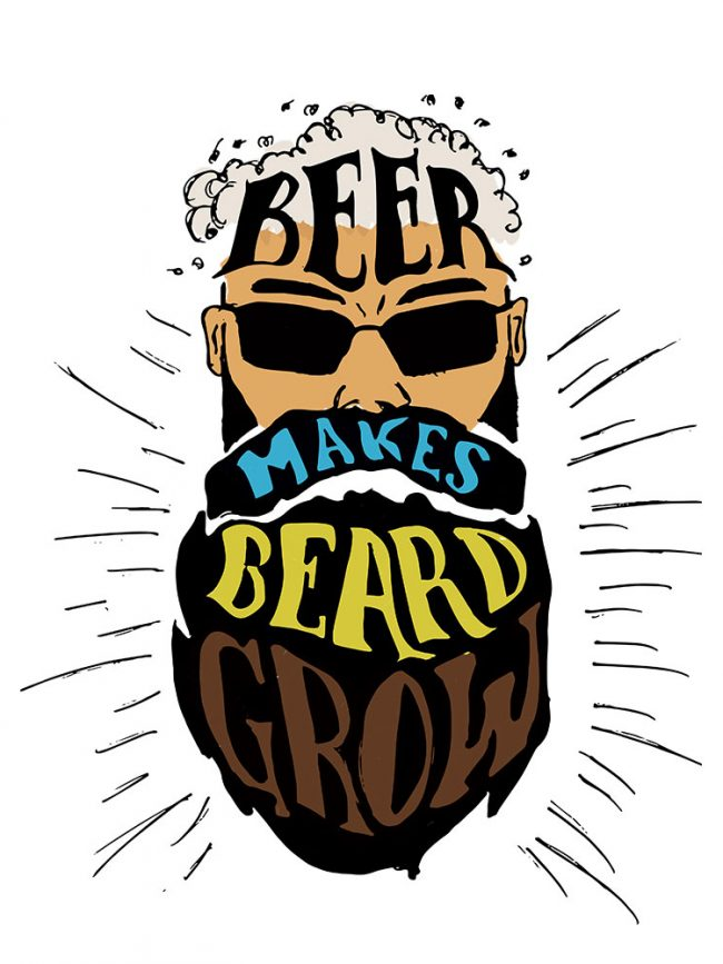 T-shirt Beer beard