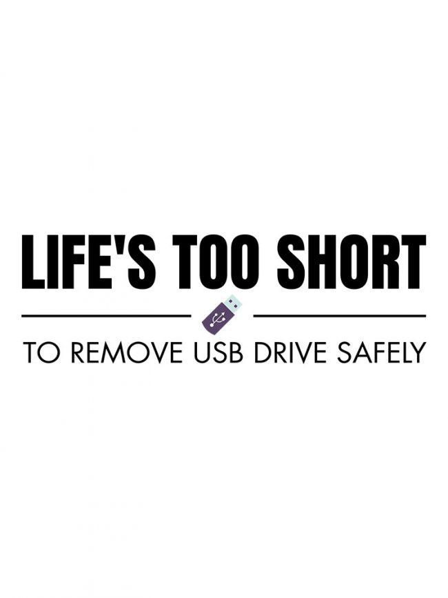 T-shirt Usb drive safely