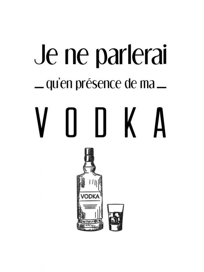 Tote bag Je ne parlerai vodka