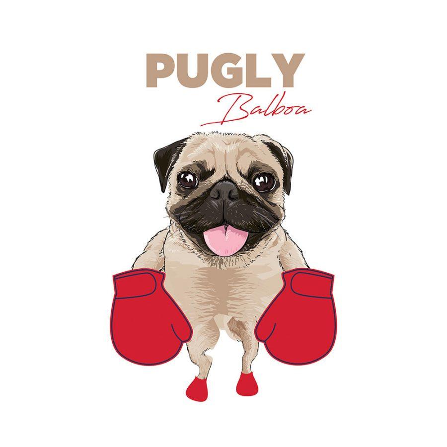 T-shirt Pugly balboa