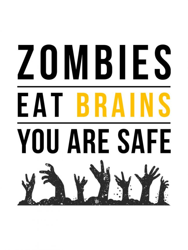 T-shirt Zombies brains