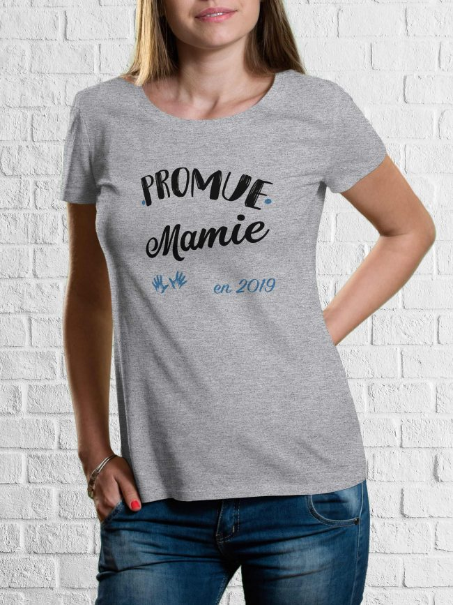 T-shirt Promue mamie bleu personnalisé