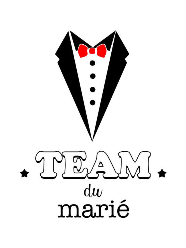 T-shirt Team marié 1