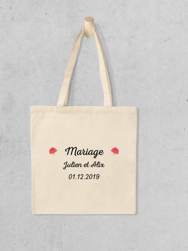Tote bag Save the date 5 personnalisé