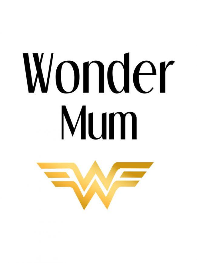 Tote bag Wonder mum