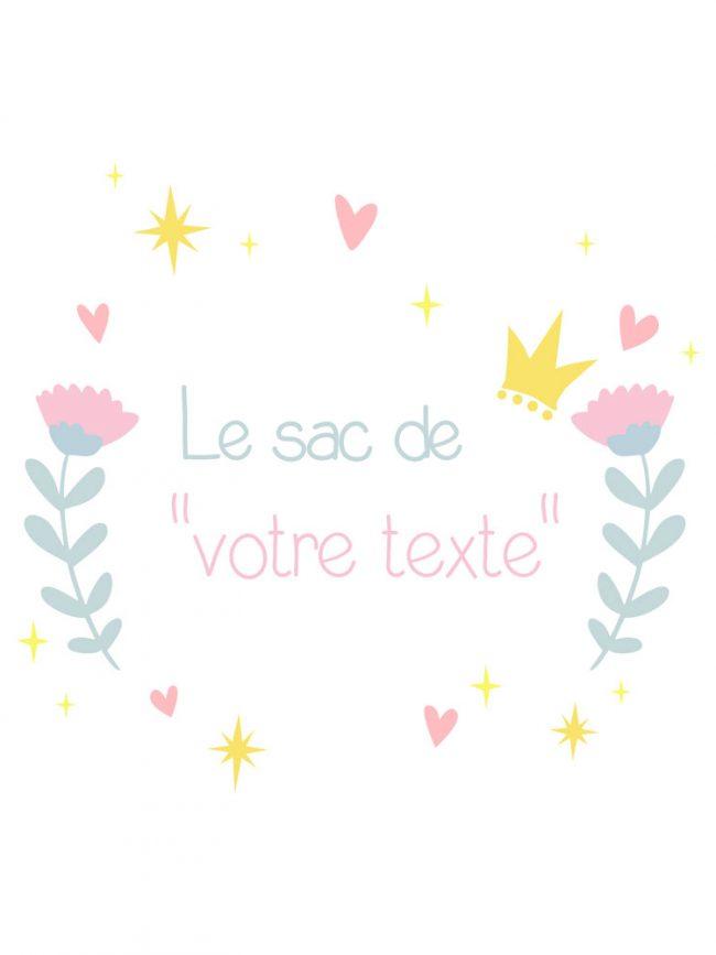 Tote bag Le sac flower personnalisé