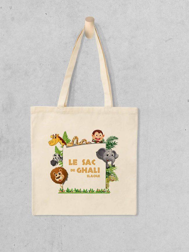 Tote bag Le sac jungle personnalisé