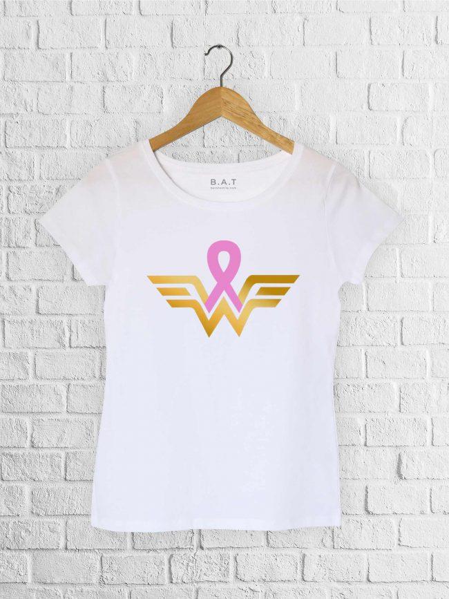 T-shirt Warrior 2 – Ruban rose