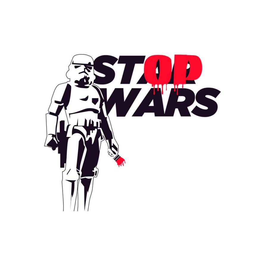 Tote bag Stop wars
