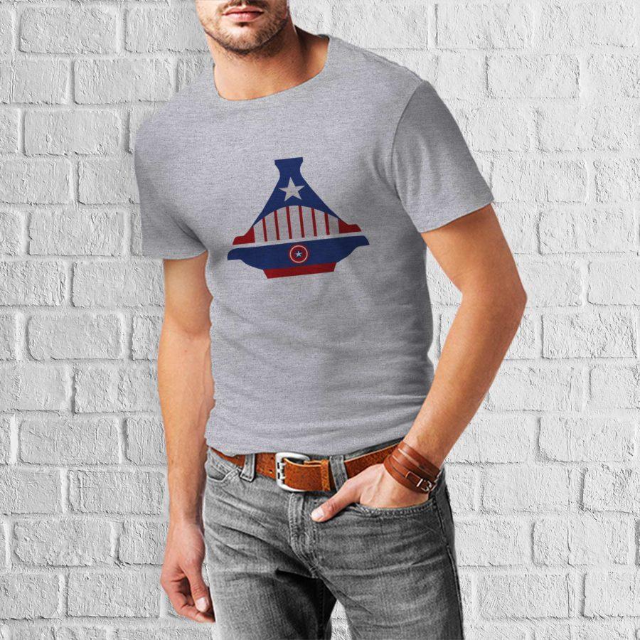 T-shirt Captain America Tajine