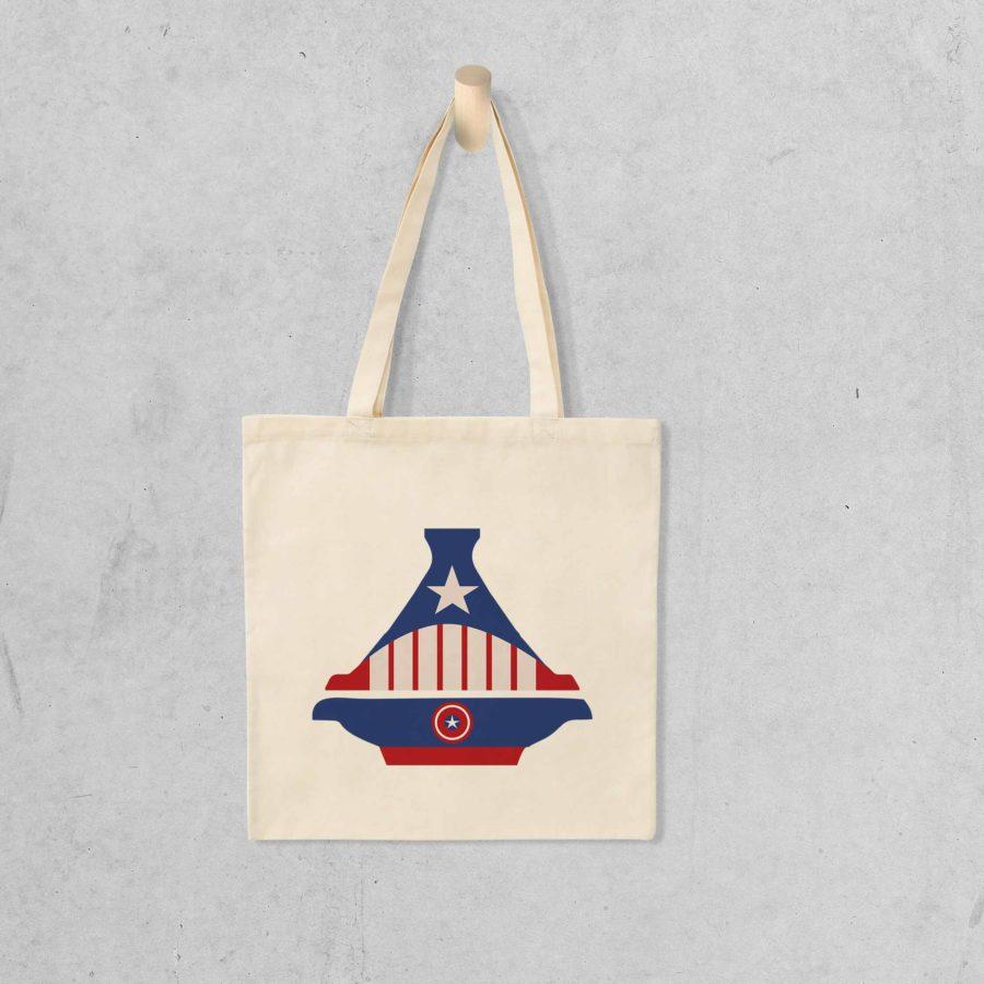 Tote bag Captain America Tajine