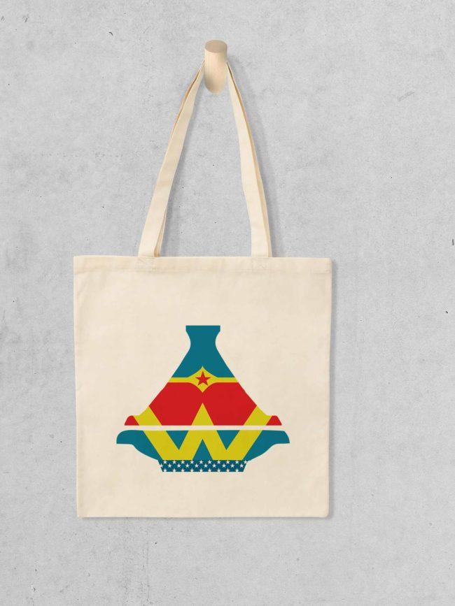 Tote bag Wonder woman Tajine