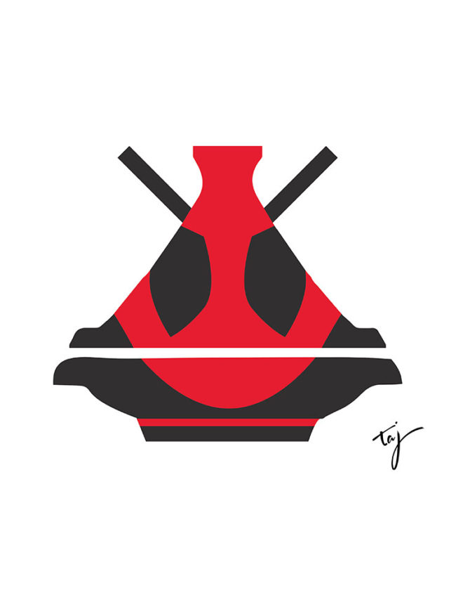 T-shirt Deadpool Tajine