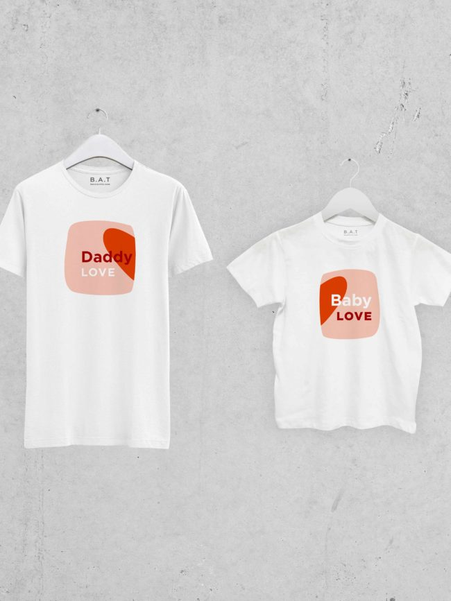 T-shirt Love daddy