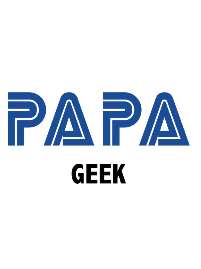 Tote bag Papa geek