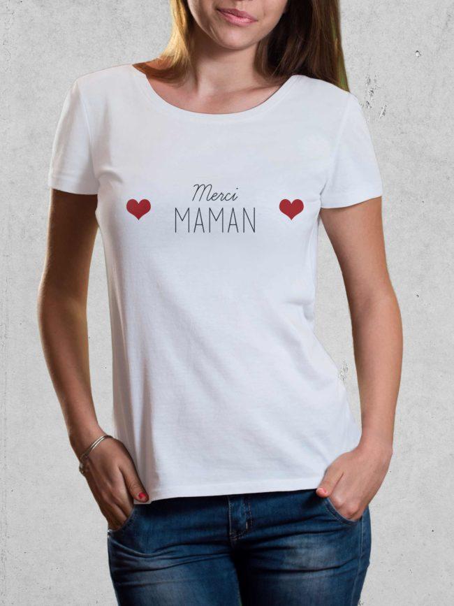 T-shirt Merci maman