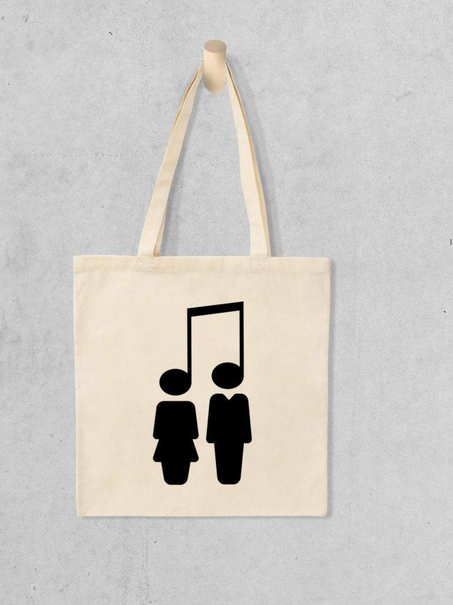 Tote bag Music brings people together