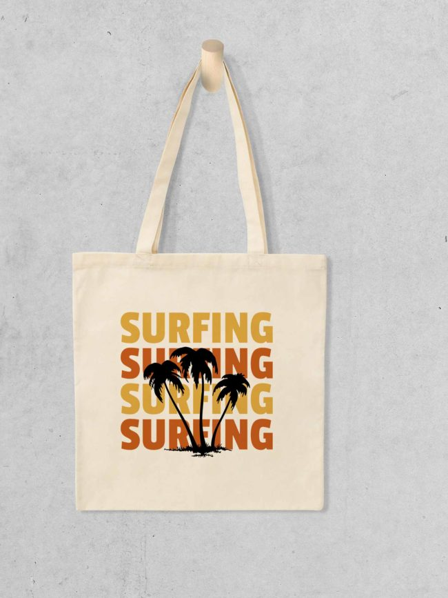 Tote bag Surfing