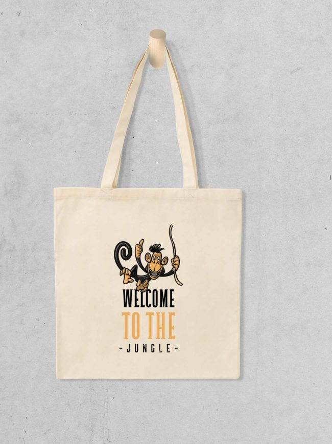 Tote bag Welcome to the jungle