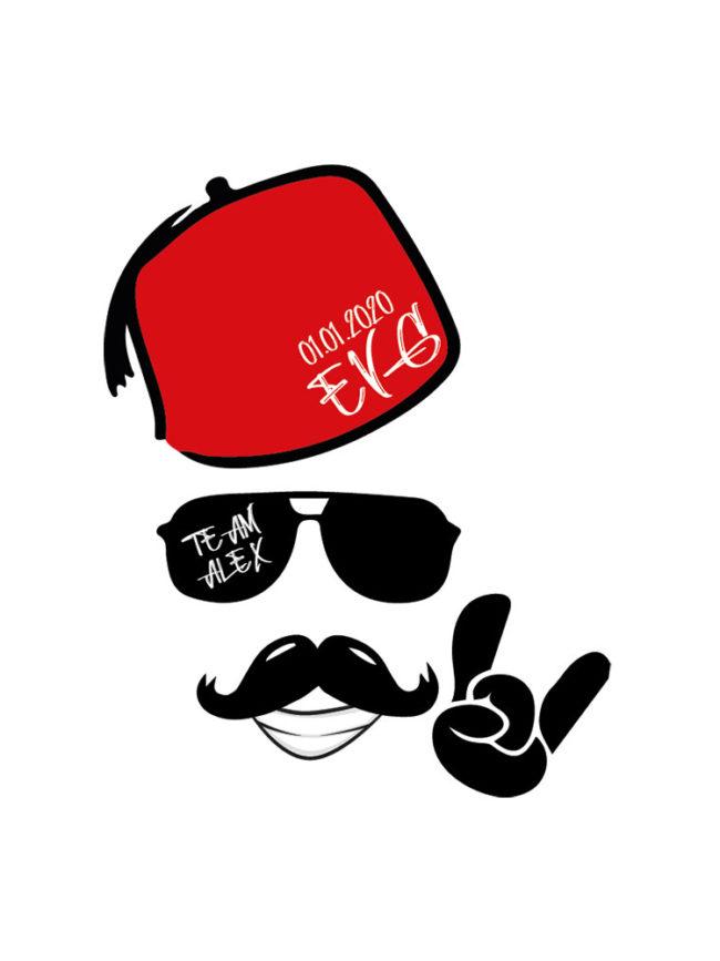 Pochette EVG Tarbouche moustache