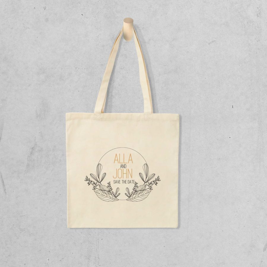 Tote bag Save the date 9