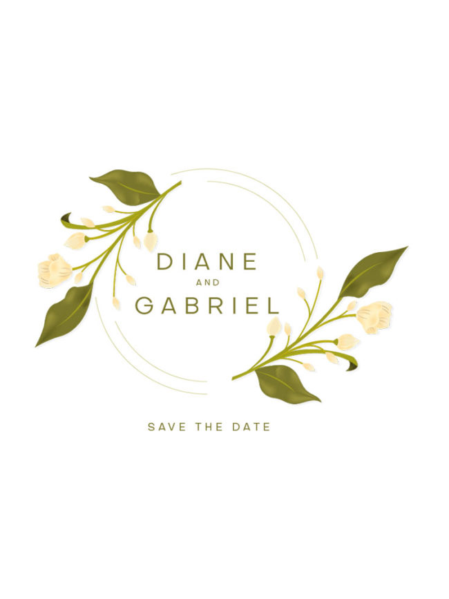 Tote bag Save the date 10