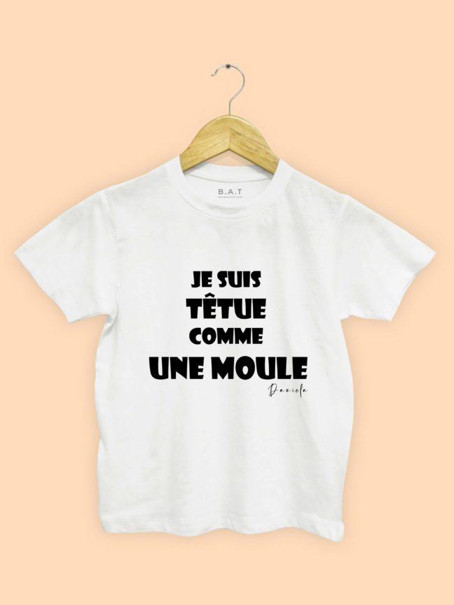 T-shirt Têtue comme une moule