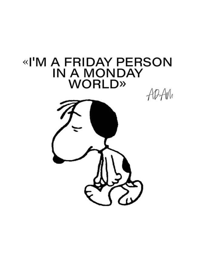 T-shirt Snoopy – Friday person