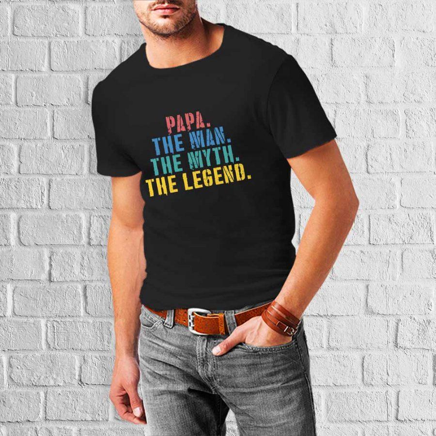 T-shirt Papa the legend