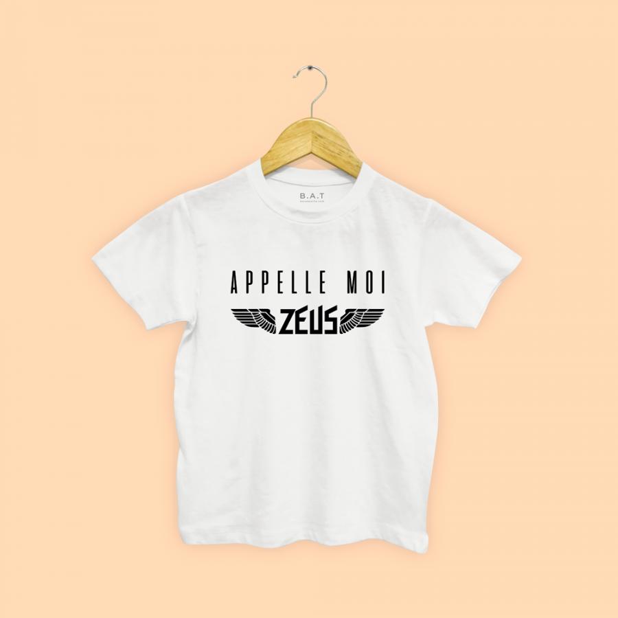 T-shirt Appelles moi zeus