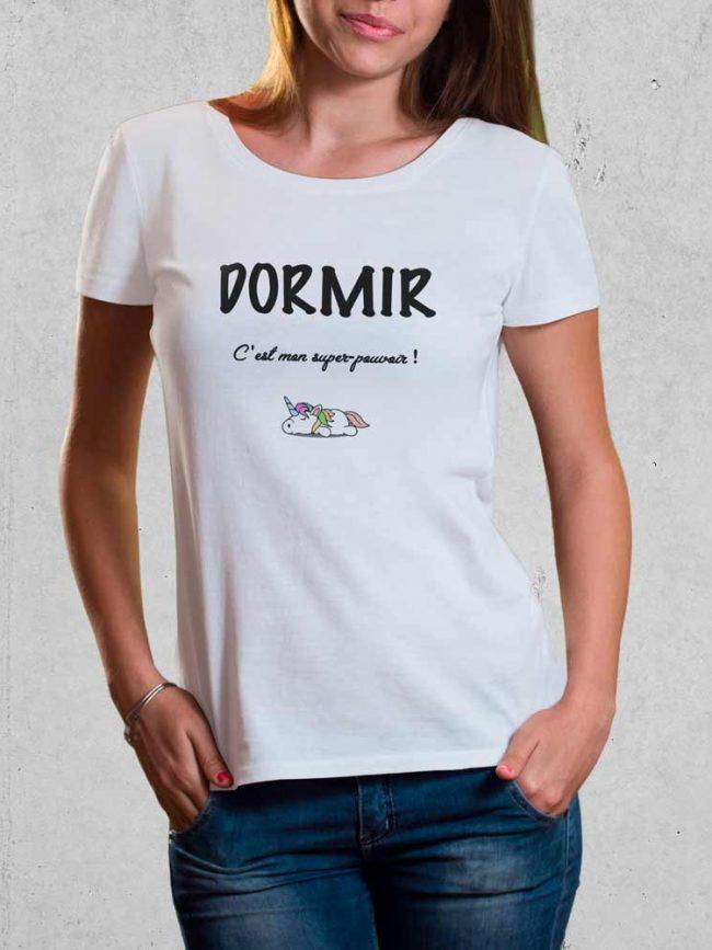 T-shirt Dormir super pouvoir