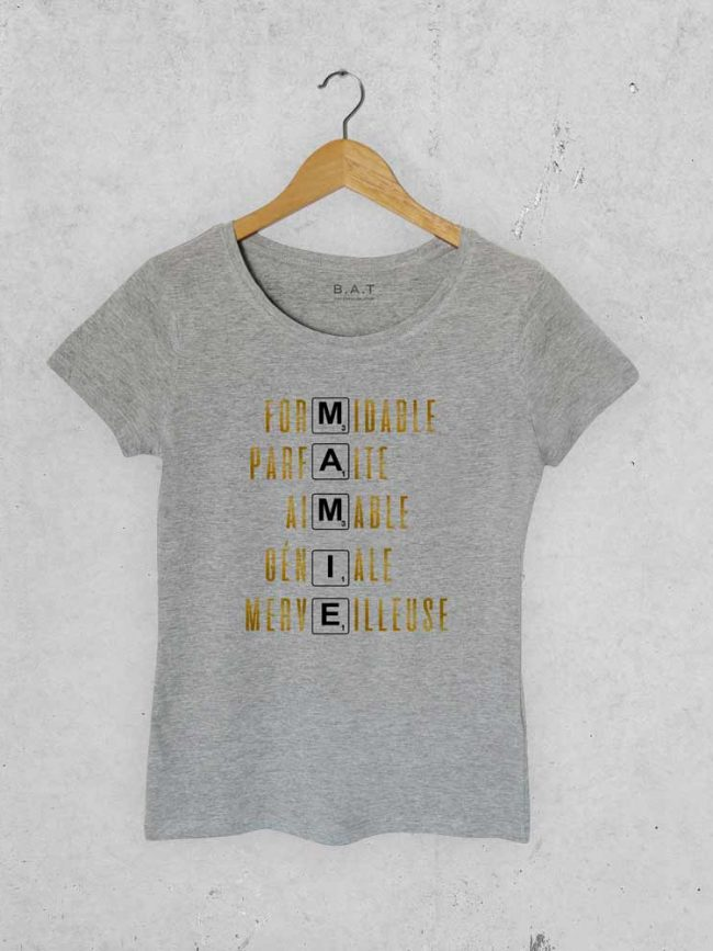 T-shirt Mamiescrable