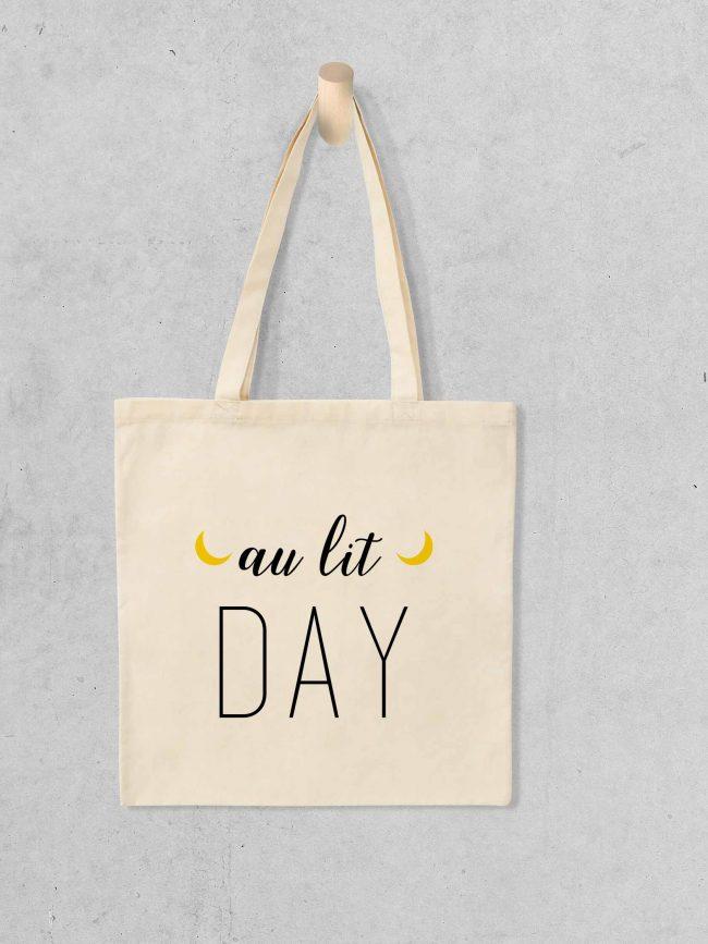 Tote bag Au lit day