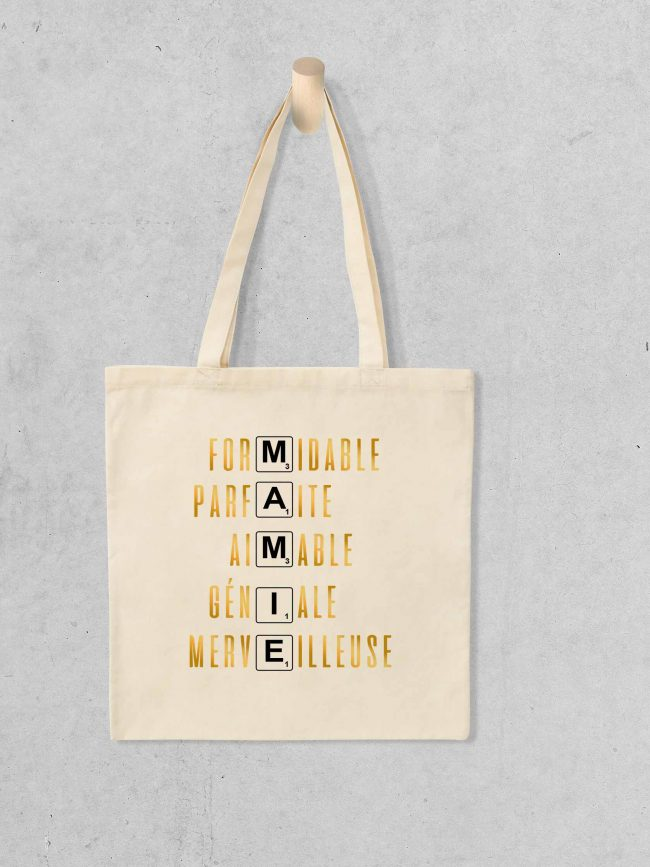 Tote bag Mamiescrable