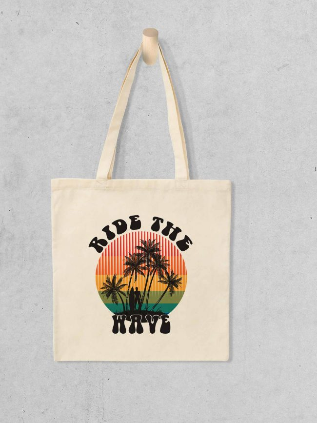 Tote bag Ride the wave