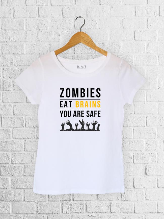 T-shirt Zombies brains