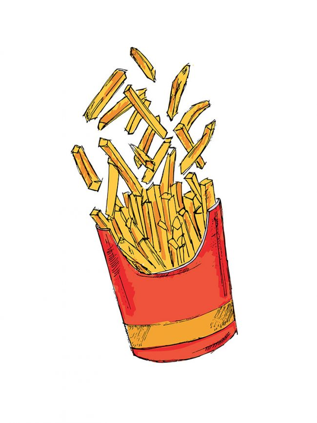 T-shirt BFF frites