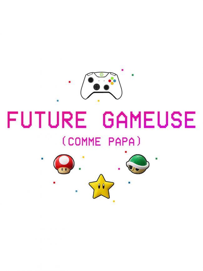 T-shirt futur gameuse