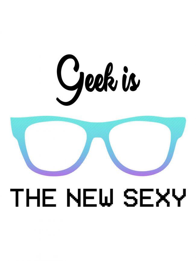T-shirt Geek sexy