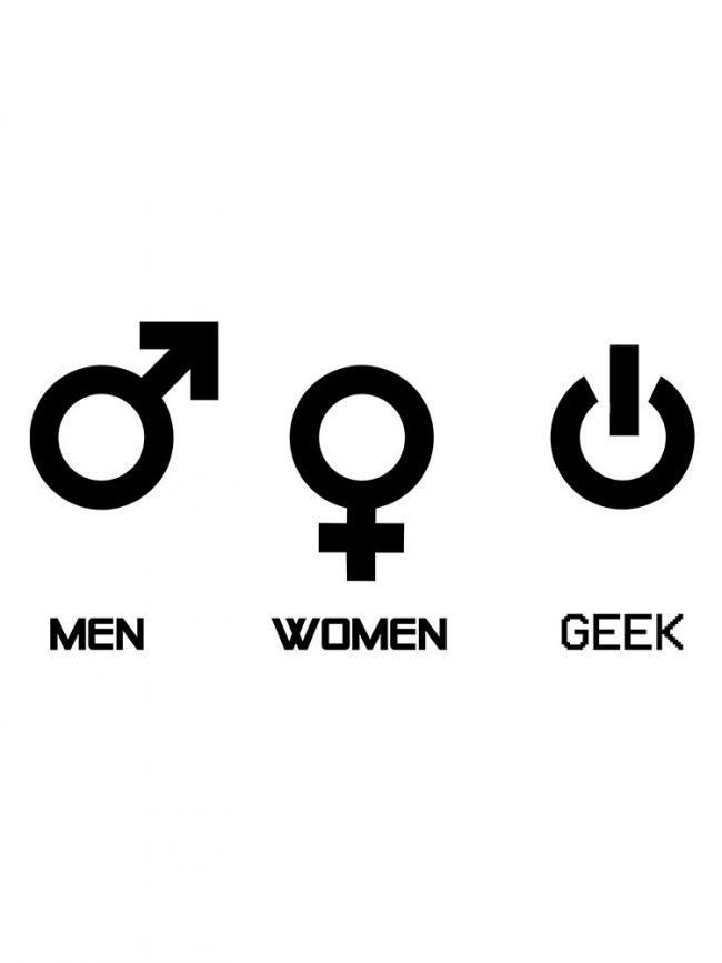 T-shirt Men women geek