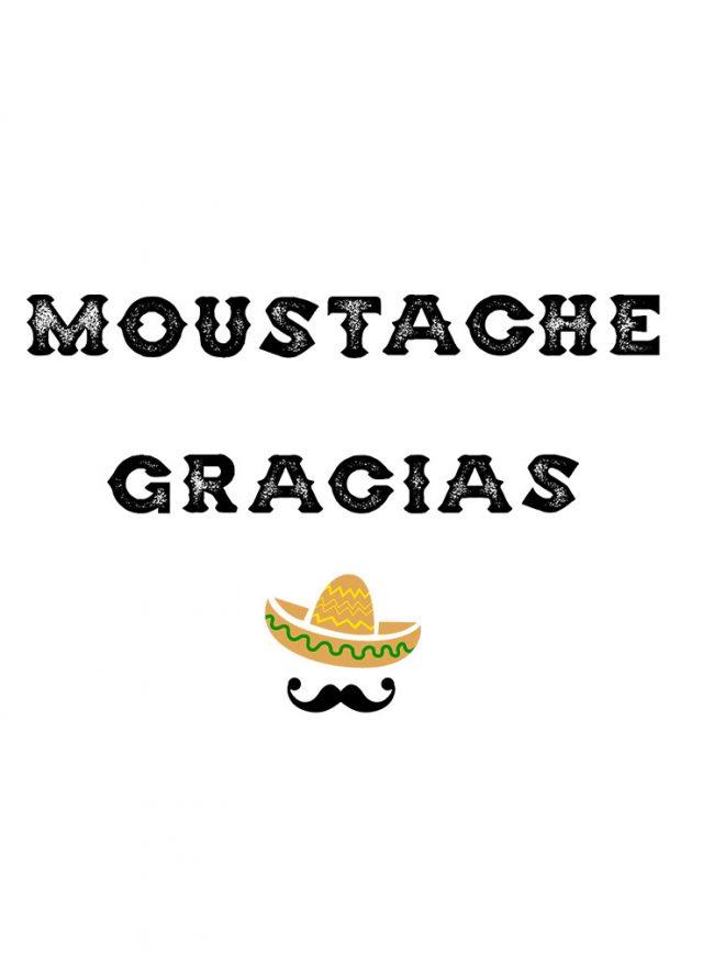 T-shirt Moustache gracias