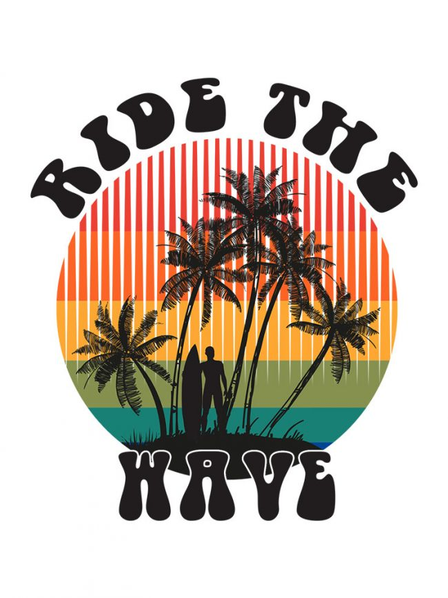 T-shirt Ride the wave