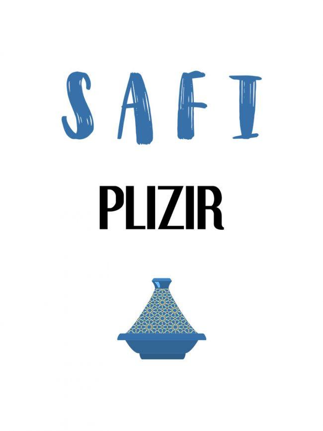 T-shirt Safi plizir