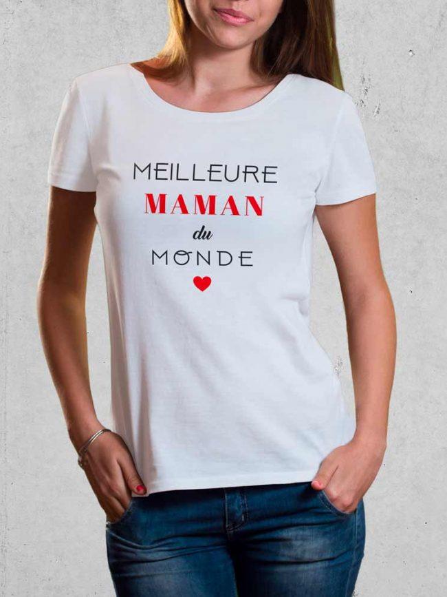 T-shirt Meilleure du monde personnalisé