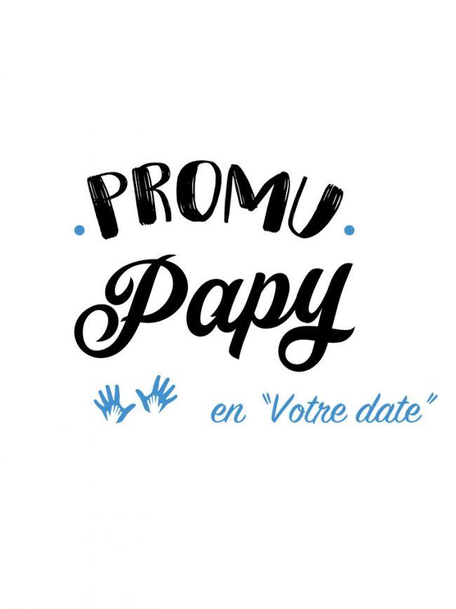 T-shirt Promu papy bleu personnalisé