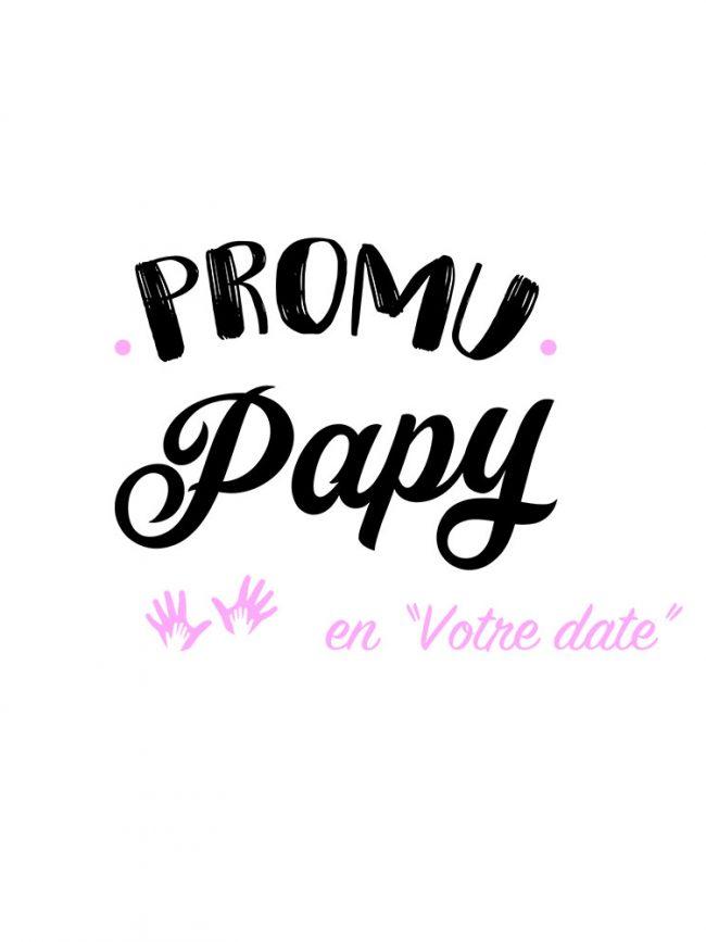 T-shirt Promu papy rose personnalisé